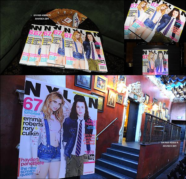 """04/05/11 :Emmer a été présente à la célébration de sa nouvelle affiche pour """" NYLON """", à Los Angeles."""