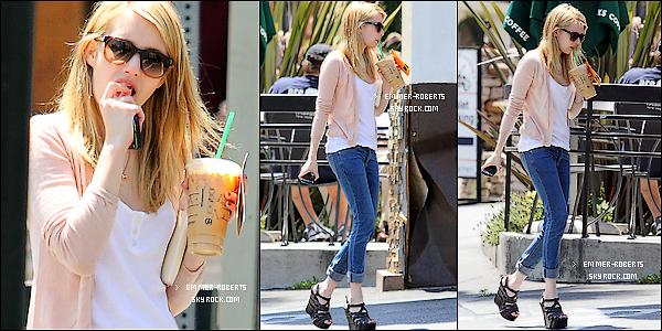 04/05/11 : Emmer  a été repéré faisant du shopping dans un   magasin de prêt a porter, à Los Angeles; 05/05/11 : Elle a également été repéré buvant du café, toujours à Los Angeles et avec la meme tenue.