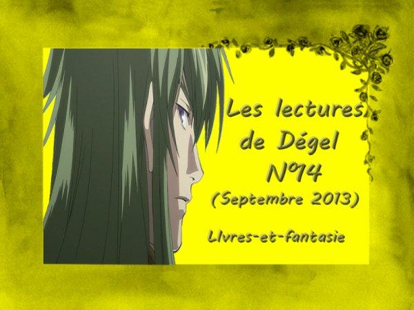 Les lectures de Dégel N°14 (Septembre 2013)