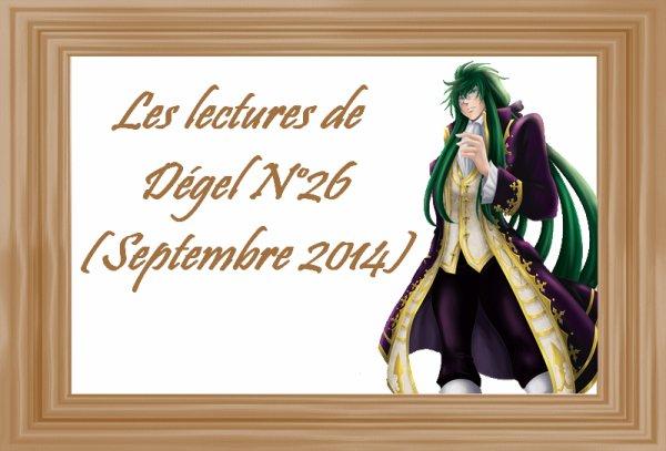 Les lectures de Dégel N°26 (Septembre 2014)