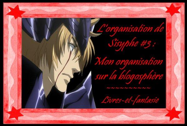 L'oraganisation de Sisyphe #3 : Mon organisation sur la blogoshpère