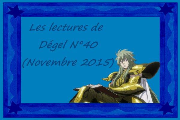 Les lectures de Dégel N°40 (Novembre 2015)