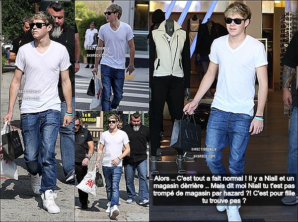 07/11/12 - Niall a été repéré dans les magasins de shopping hier dans les rues de Los Angeles !
