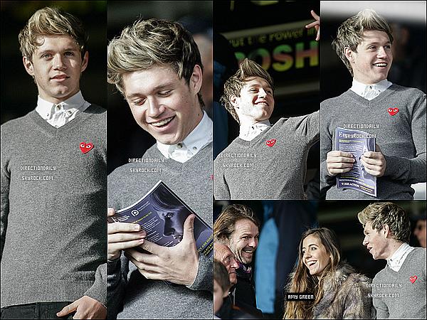 """28/10/12 -Niall a assisté à un match avec sa """"petite amie"""" Amy avec les Derby vs. United Football  !"""