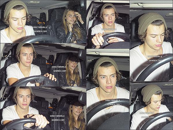 01/08/12 - Harry a était vu en compagnie de la jeune mannequin Cara Delevigne tard dans la soirée