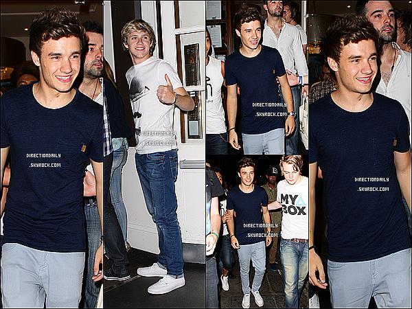 10/08/12 - Niall et Liam ont assisté au 21 ème anniversaire de Josh Devine au club « Funky Buddha »