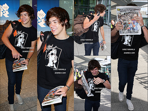 11/09/12 - Harry a été vu quittant Los Angeles il est ensuite arrivé à l'aéroport « Heathrow »