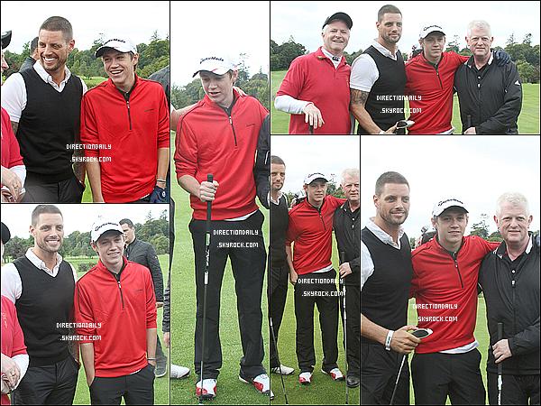 13/09/12 -  Niall fêtant son 19e anniversaire au golf du comté de Westmeath à Mullingar en Irlande