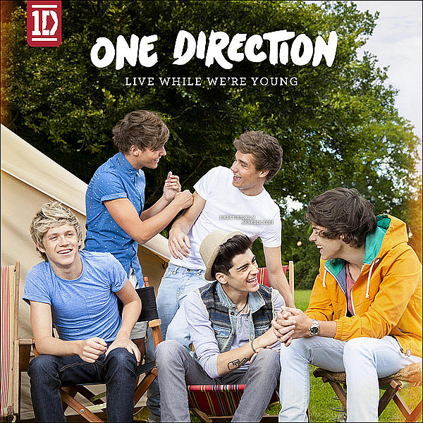 14/09/12 - Voici la nouvelle couverture du single « Live While We're Young » qui sort le 01/10 !