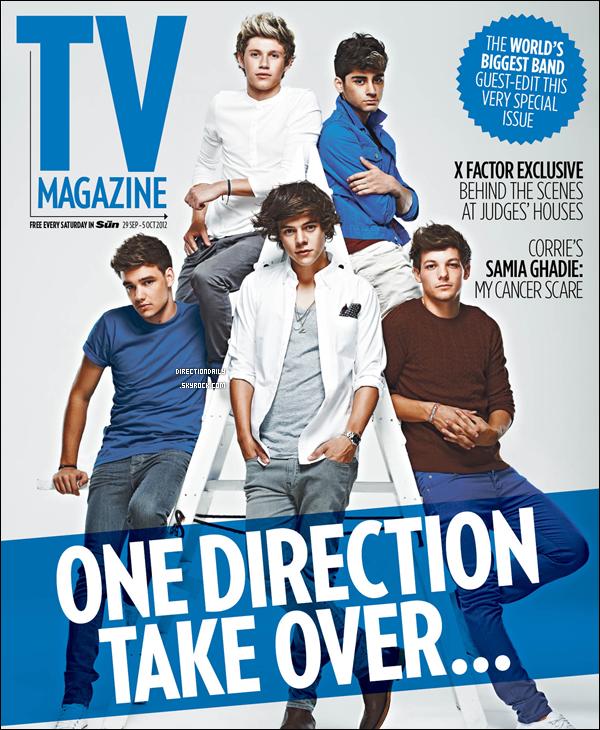 28/09/12 - Les garçons font la couverture du magazine « TV Magazine » qui sortiras ce samedi !
