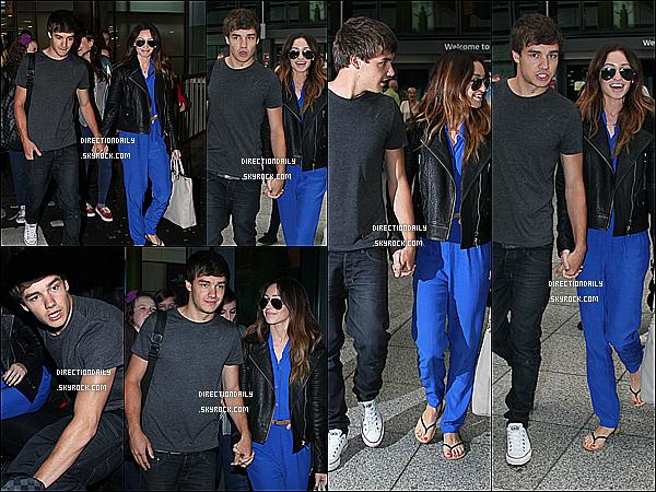 16/07/12 - Liam et Danielle ou le couple parfait sont arrivés à l'aéroport de Heathrow aujourd'hui !