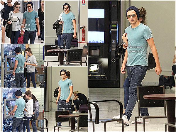 02/07/12 - Louis  a été vu en arrivant à l'aéroport de Nice, en France, avec sa petite amie Eleanor !