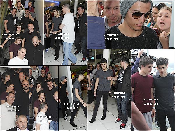 14 Avril 12 - Les garçons ont été vus à l'aéroport de Sydney à destination de Melbourne !