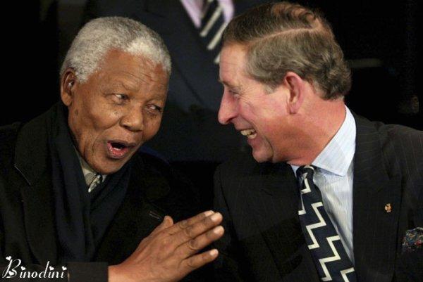 LE  PRINCE  CHARLES  ET  MR  NELSON  MANDELA