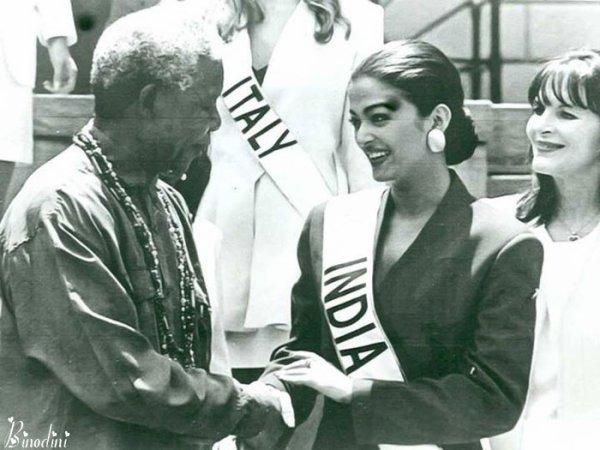 QUAND  AISHWARYA  RAI  A  RENCONTRE  MR  NELSON  MANDELLA  EN  1994