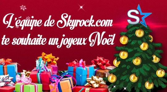 Salut binodini, MERCI A L'EQUIPE DE SKYROCK / J' AI LA GRIPPE/ JOYEUX NOËL A VOUS TOUS