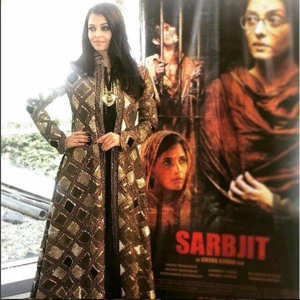 AISHWARYA RAI INTERVIEWÉE POUR TV 5 SUR LA PROJECTION A CANNES DU FILM SARBJIT