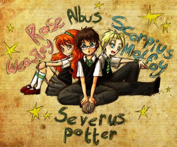 Rose, Albus, et Scorpius