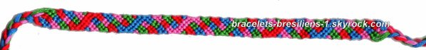 8 eme bracelet brésilien: variante de modèle en pépito