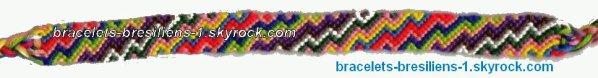 25 eme bracelet bresilien: éclairs multicolors