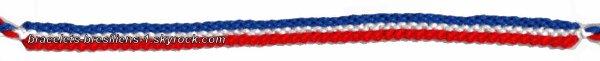 78 eme bracelet: drapeau français