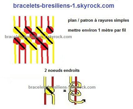 plan de bracelet brésilien / patron de bracelet bresilien