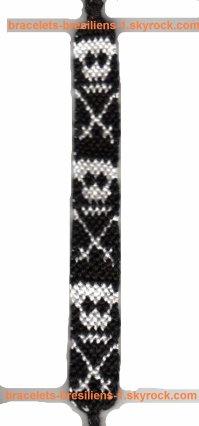 96 ème bracelet bresilien: modèle avec des têtes de mort