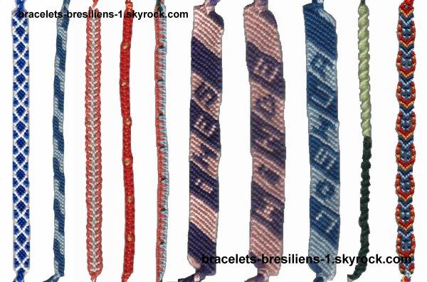 12 ème mélange de bracelets bresiliens