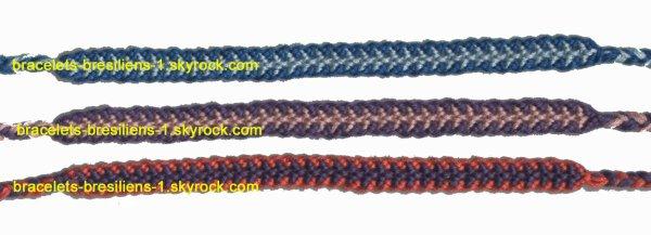 121 à 123 ème bracelets bresiliens: des chenilles
