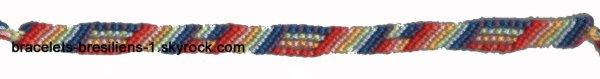 126 ème bracelet bresilien: variante de rayures en arc-en-ciel