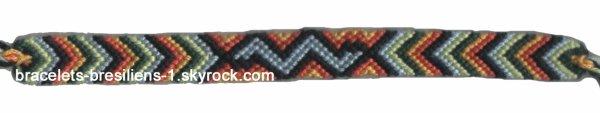 129 ème bracelet: chevrons avec éclair