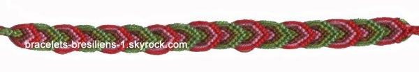 130 ème bracelet bresilien: double arc-en-ciel