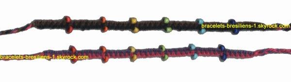 137 ème et 138 ème bracelets: en macramé et avec des perles
