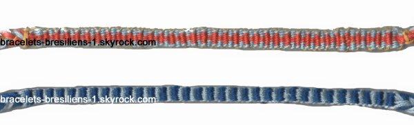 bracelets 139 et 140: 2 bracelets kumihimo plats