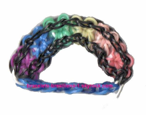 """mon 1er bracelet en """"loom"""""""