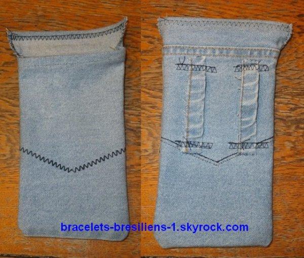 pochette en jean bracelets bresiliens friendship bracelets. Black Bedroom Furniture Sets. Home Design Ideas