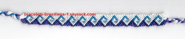 bracelet 151: vagues bleues