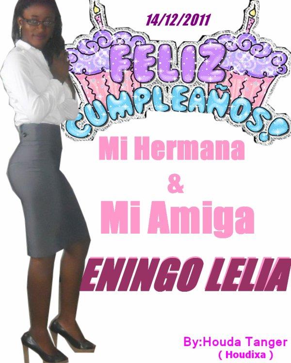 Feliz Cumpleaños ENINGO Lelia de Guinea Ecuatorial & Marruecos