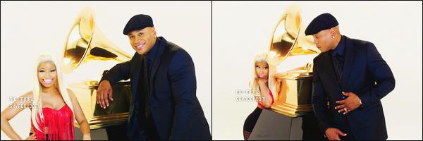 -------   Video de miss  Nicki Minaj pour avec  LL Cool J pour la promo des « 54th Grammy »  Aussi deux photos issue lors du tournage de cette video de promotion. J'adore beaucoup ceux que Nicki porte surtout le haut rouge.  -------