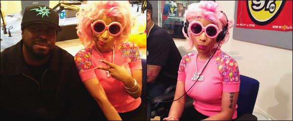 ------- 02/04/12 : Notre rappeuse  Nicki Minaj photographiée en plein promotion à à la radio « HOT 97 » - Los Angeles. Gros top, elle est toute belle dans se petit tee-shirt rose accompagné de cette perruque courte toujours rose. Tu pense quoi de la tenue ? -------
