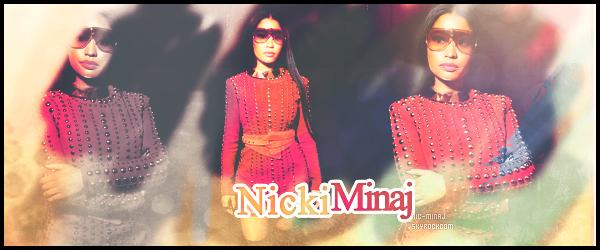 -------------------------  ● ● Bienvenue sur Nic-Minaj, ton blog source #1 sur la célèbre rappeuse Nicki Minaj.  A travers se blog source depuis 2011, tu pourras suivre le quotidien de miss Nicki Minaj via, candids, photoshoots, vidéos, photos. -------------------------