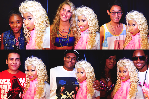------- 04/08/12: La princesse Nicki Minaj photographiée lors de sa tournée mondiale « Pink Friday Tour » -    Las Vegas.  Photos et videos créditez sur Twitter/Instagram par les fans.  Des photos lors des M&G. Elle est toujours habillé avec les memes tenues.  -------