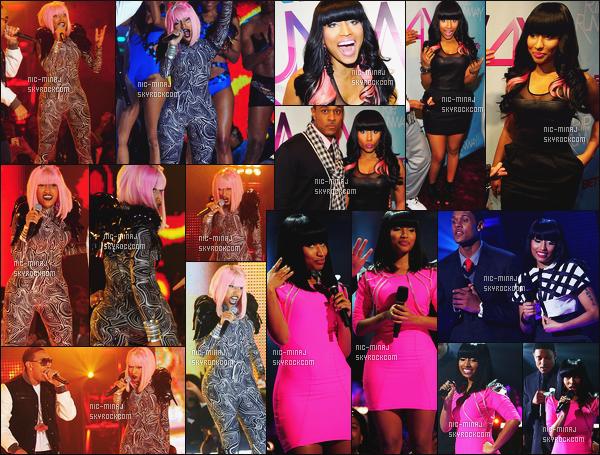 ------- 27/02/10: Notre sublime Nicki Minaj photographiée, à l'événement de la grande cérémonie « BET'S » -   New York. Mlle Nicki Minaj a aussi présenté un show, et elle a performé avec Ludacris. Plein de changement de tenues.Top/Flop pour cette tenue? -------