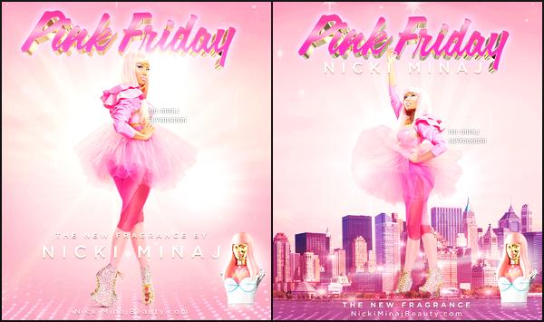 ------- ● ● Découvrez les affiches pub de Nicki Minaj pour  « Pink Friday » Septembre 2012. J'adore les affiches, surtout la tenue rose tutu et les chaussures de Nicki. Elle est sublime. Je suis vraiment fan de la tenue et de la perruque.  -------