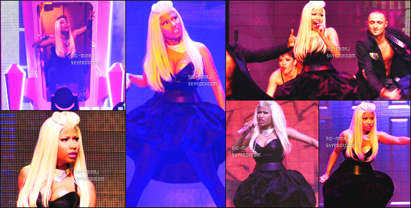 ------- 22/10/12:  Mlle Nicki Minaj  photographiée  pendant sa grande tournée « Roman Reloaded Tour » -  à   Manchester.  Photos HD/Telephones portables. Nicki est tellement belle et au top à travers toutes ses perruques et tenues. Vraiment sublime, donc top.  -------