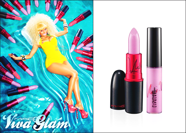 ------- ● ● Découvrez un nouveau produit make up de miss Nicki Minaj « Viva Glam ». Toujours trés actif mlle Nicki, maintenant elle se lance à nouveau pour un produit rouge à levre edition limité pour la grande marque  MAC.  -------