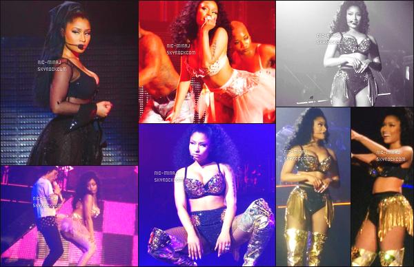 ------- 10/04/15:   Jolie Nicki Minaj photographiée pendant sa tournée en Europe « The Pink Print Tour » - à  New Castle. Pleins de photos toujours prient par les fans présent lors de se concert, peu de photos et la qualité n'est pas top, je suis vraiment désolé. -------
