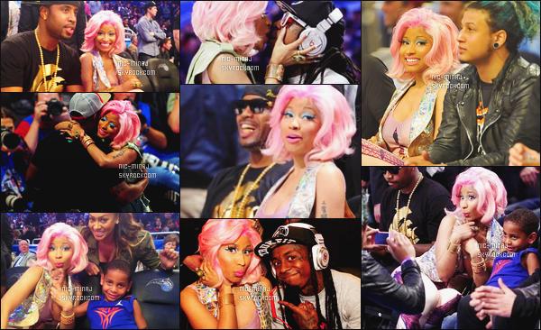------- 26/03/12:     Notre sublime Nicki Minaj photographiée sistant au match de la NBA « All-Star Game » - à New York. Gros top pour cette tenue. J'aime beaucoup se leggins avec comme motif la tour eiffel. J'adore aussi ses talons. Top/Flop pour la tenue? -------