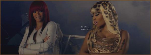 -------   Découvrez le clip simple de la belle Nicki Minaj avec Rihanna « Fly »  -  Aout 2011.    Extrait de l'album de Nicki Pink Friday. J'aime beaucoup se clip,  Nicki & Rihanna sont tellement belle & semble être super bonnes copines.  -------
