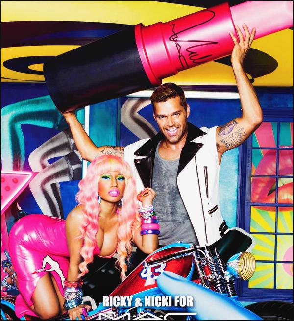 5555  • Découvrez l'affiche de Nicki Minaj pour M.A.C.  avec Ricky Martin - Février 2012.  J'adore beaucoup tellement cette affiche, Nicki Minaj est vraiment belle, je suis fan de cette tenue et de cette perruque rose. Gros top.  5555